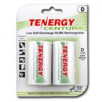 1 Card: Tenergy Centura NiMH D 8000mAh Low Self Discharge Rechargeable Batteries