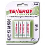 1 Card: Tenergy Centura NiMH AAA 800mAh Low Self Discharge Rechargeable Batteries