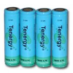 4pcs Tenergy Li-Ion 18650 Cylindrical 3.7V 2600mAh Flat Top Rechargeable Batteries w/ PCB
