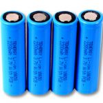 4pcs Tenergy Li-Ion 18650 Cylindrical 3.7V 2200mAh Flat Top Rechargeable Batteries w/ PCB