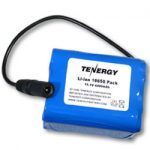 AT: Tenergy Li-Ion 18650 11.1V 4400mAh PCB protected Rechargeable Battery Pack w/ DC Connector