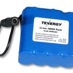 AT: Tenergy Li-Ion 18650 14.8V 4400mAh PCB Protected Rechargeable Battery w/ DC Connector