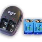 T-228 Plug-in Compact Charger with 2 pcs of 9V 250mAh NiMH Batteries