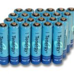 24pcs Tenergy AAA 1000mAh NiMH Rechargeable Batteries + 6 AAA Size Holders