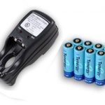 Combo: Tenergy T-2833 AA/AAA NiMH Charger + 8 AA 2600mAh Rechargeable Batteries