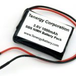 AT: Tenergy 3.6V 1000mAh Side-by-Side NiMH Battery Pack w/ Bare Leads