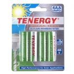 1 Card: 4pcs Tenergy AA 3.2V 400mAh LiFePO4 Rechargeable Batteries