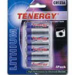Tenergy Propel CR123A Lithium Battery with PTC Protected (4 pcs) — Retail Card