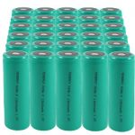 30pcs F Size 1.2V 13000mAh Flat Top NiMH Rechargeable Batteries