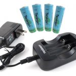 Combo: Tenergy 2CH 18650/14500 Li-ion Battery Charger + 4 Li-ion 18650 3.7V 2600mAh Batteries (Button Top) w/ PCB