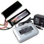 Combo: Tenergy 1-4 Cells Li-PO/Li-Fe Balance Charger + 9.6V 1200mAh 15C LiFePO4 Nunchuck Airsoft Battery Pack