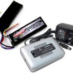 Combo: Tenergy 1-4 Cells Li-PO/Li-Fe Balance Charger + 12.8V 1200mAh 15C LiFePO4 Nunchuck Airsoft Battery Pack