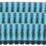30pcs Tenergy Li-Ion Flat Top 18650 Cylindrical 3.7V 2600mAh Rechargeable Batteries
