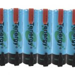 6pcs Tenergy Li-Ion Flat Top 18650 Cylindrical 3.7V 2600mAh Rechargeable Batteries w/ Tabs