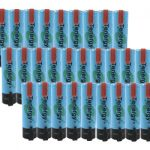 30pcs Tenergy Li-Ion Flat Top 18650 Cylindrical 3.7V 2600mAh Rechargeable Batteries w/ Tabs