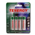 1 Card: 4 pcs Tenergy AA Size Alkaline Batteries