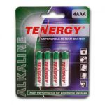 Card: 4pcs Tenergy AAA Size Alkaline Batteries