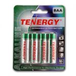 1 Card: 8pcs Tenergy AA Size Alkaline Batteries