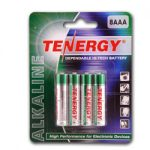 Card: 8pcs Tenergy AAA Size Alkaline Batteries