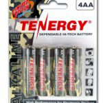 1 Card: 4pcs Tenergy AA Size Camouflage Version Alkaline Batteries