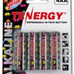 1 Card: 4pcs Tenergy AA Size Gamer Version Alkaline Batteries