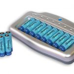 Combo: T-6280 8-Bay Smart Charger + 16 AA 2600mAh NiMH Rechargeable Batteries
