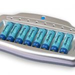 Combo: Tenergy T-6280 Smart 8-Bay AA/AAA NiMH Battery Charger + 8 AA 2600mah NiMH Batteries