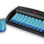Combo: Tenergy T-6988 Smart 10-Bay NiMH Battery Charger + 20 AA 2600mAh NiMH Batteries