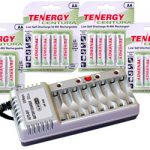 Combo: Tenergy T868 8-Bay AA/AAA Battery Charger + 4 Cards AA Centura Batteries