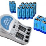 Combo: T-3969A1 Plug-in NiMH Charger + 20 Tenergy Batteries (12AA /4AAA/4 9V)
