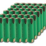 Combo: 36pcs Tenergy 4/3A 17670 3800mAh NiMH Rechargeable Batteries w/ Tabs