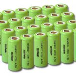 Combo: 24pcs Tenergy 4/5A 2000mAh NiMH Flat Top Rechargeable Batteries