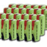 Combo: 24pcs Tenergy 4/5A 2000mAh NiMH Flat Top Rechargeable Batteries w/ Tabs