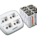 Combo: Tenergy TN136 4-bay 9V Smart Charger + 8pcs Centura 9V 200mAh (LSD) NiMH Rechargeable Batteries