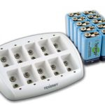 Combo: Tenergy TN137 10-bay 9V Smart Charger + 10pcs 9V 250mAh NiMH Rechargeable Batteries