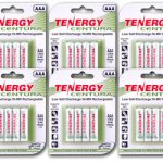 6 Cards: Tenergy Centura NiMH AAA 800mAh Low Self Discharge Rechargeable Batteries