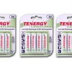 3 Cards: Tenergy Centura NiMH AA 2000mAh Low Self Discharge Rechargeable Batteries