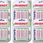 6 Cards: Tenergy Centura NiMH AA 2000mAh Low Self Discharge Rechargeable Batteries