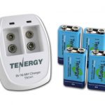 COMBO : TN141 2-bay 9V Charger + 4PCs 9V 250mAh