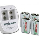 Combo: Tenergy TN141 2-bay 9V Charger + 4pcs Centura 9V 200mAh (LSD) NiMH Rechargeable Batteries