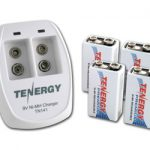 Combo: Tenergy TN141 2-bay 9V Charger + 4pcs Premium 9V 200mAh NiMH Rechargeable Batteries