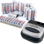 Tenergy BC1HU 110-240V Universal Smart Charger + 34 Premium Cells (12AA/12AAA/4C/4D/2 9V)