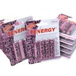 12 Cards: 4pcs Tenergy AA Size Leopard Version Alkaline Batteries