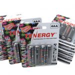 12 Cards: 4pcs Tenergy AA Size Gamer Version Alkaline Batteries