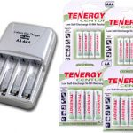 Combo: Tenergy T-3150 Smart AA/AAA NiMH/NiCd Battery Charger + 2AA & 2AAA Cards of Centura Low Self Discharge NiMH Rechargeable Batteries