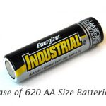 Case: 620pcs Energizer Industrial AA Size (EN91) Alkaline Battery