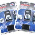 2 Cards of Tenergy 4 Pcs RCR123A 3.0V 900mAh Rechargeable Li-Ion Protected Batteries w/ Smart Charger