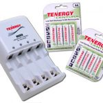 Combo: Tenergy TN138 4-Bay AA/AAA NiMH LED Battery Charger + 2 Cards Centura AA Batteries (8pcs)