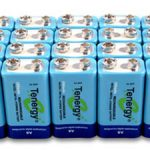 20pcs Tenergy 9V 250mAh NiMH Rechargeable Batteries