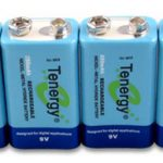 4pcs Tenergy 9V 250mAh NiMH Rechargeable Battery